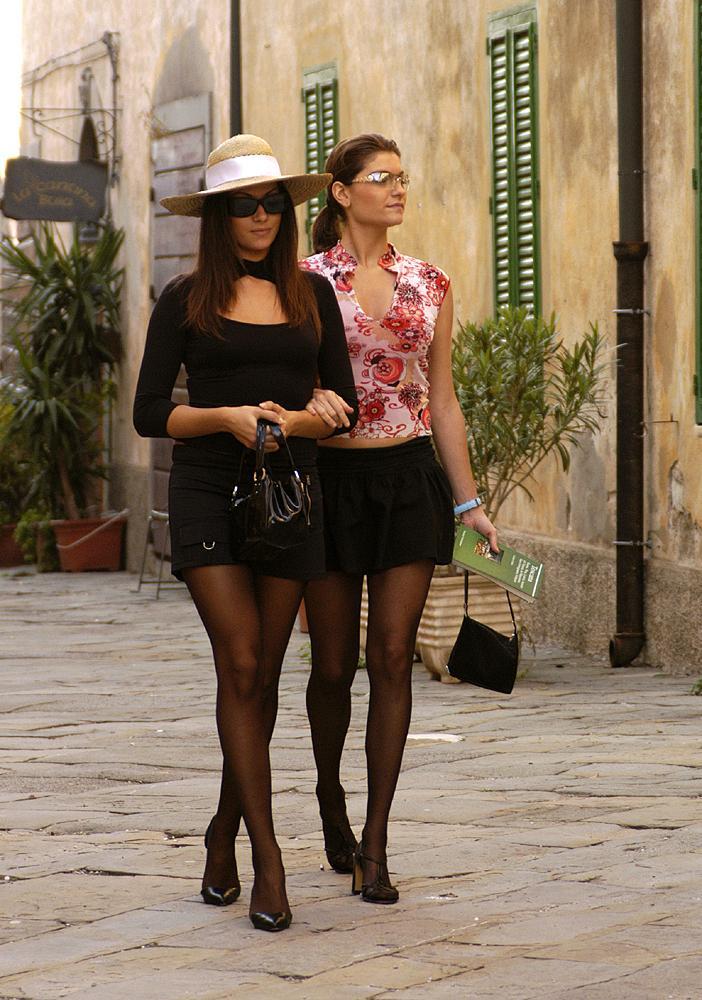 Turista in collant