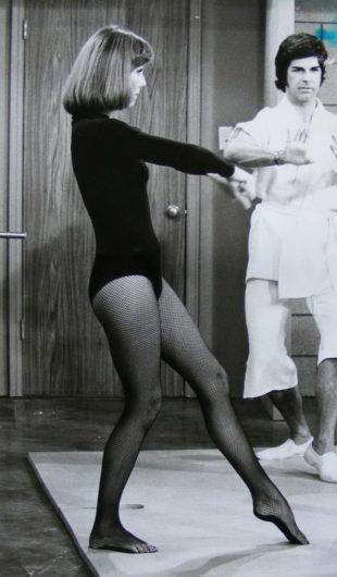 Diana Rigg in collant a rete